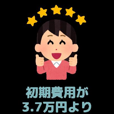 初期費用が2万円